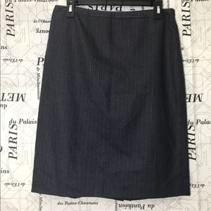 Brooks Brothers 346 Skirt SZ 10 Pinstriped Lined